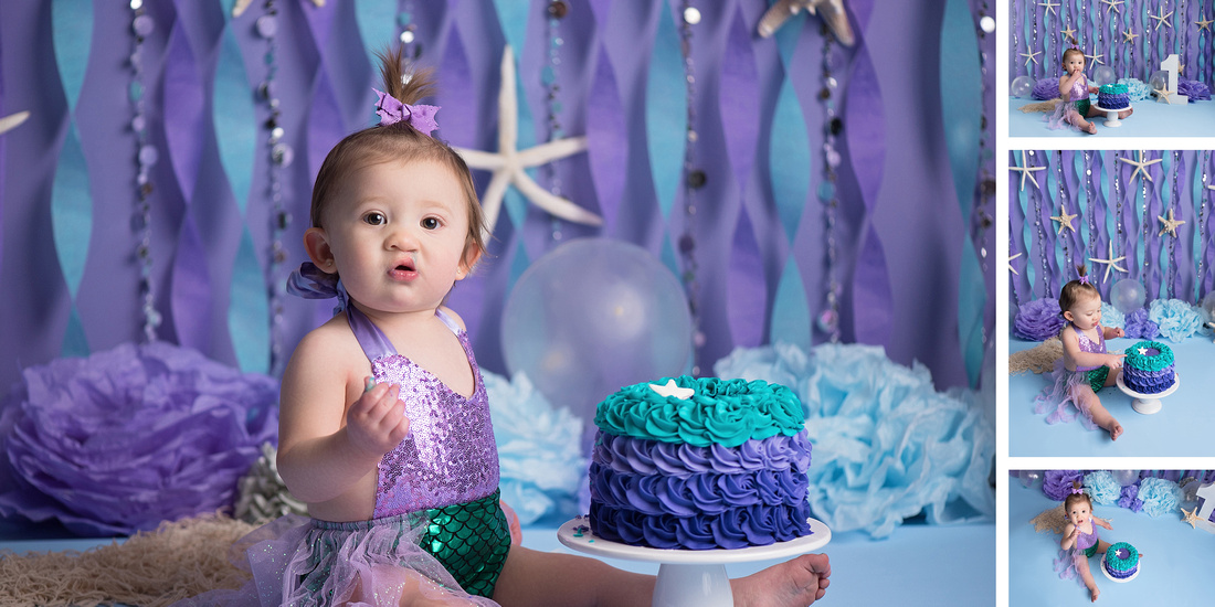 Colorado Springs Cake Smash Photography Portrait Photographer Widefield Fort Carson Fountain