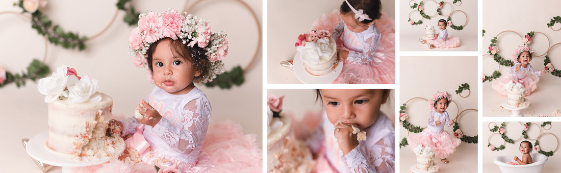 Simple Boho Cake Smash, Baby girl, Best Kansas City, Leavenworth, Cake Smash Photographer, Lansing, KS