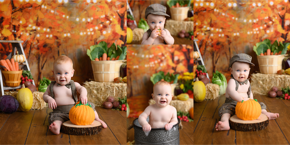 Baby Boy Fall Cake Smash, Best Kansas City, Leavenworth, Cake Smash Photographer, Lansing, KS